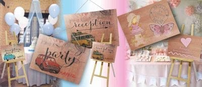 πινακίδες ξύλινες με όποιο θέμα θέλετε για τον στολισμό της εκκλησίας ή της δεξίωσης του γάμου ή της βάπτισης