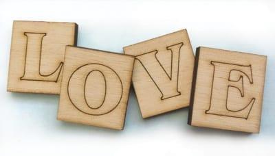 Ξύλινο Διακοσμητικό LOVE LW 1011